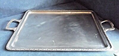 "GOOD Large 21"" ~ SILVER Plated ~ Platter TRAY ~ c1900 ~ 55 x 33cm"