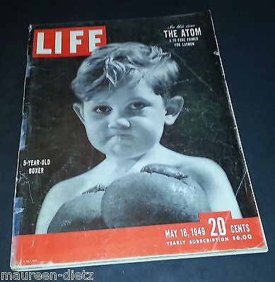 May 16, 1949 LIFE Magazine History 40s Advertising ads add ad FREE SHIPPING 5 14