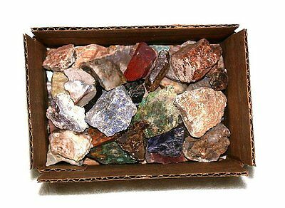 3 Pounds Assorted 1 to 3+ Inch Rock Stone Tumble Tumbler Tumbling Cab Rough Mix