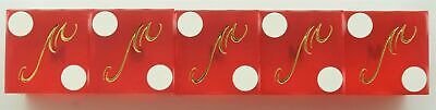 Casino Dice - Mandalay Bay Hotel Stick Of 5 Used Dice Las Vegas Nv - Free S/h *