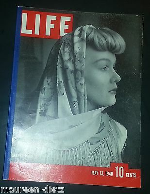 May 13, 1940 LIFE Magazine WWII War 40s Advertising ads add ad  FREE SHIPPING 5