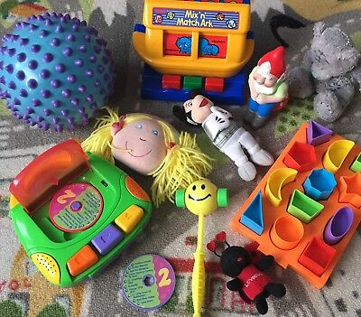 BABY TODDLER Toys Shape Puzzle SENSORY BALL Tony ARC CD Player Mickey Mouse