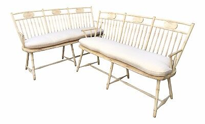 Spectacular Pair of Richard Mulligan American Rustic Windsor Benches