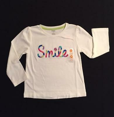 NWT Gymboree Girls Color Happy Embroidered Smile Top Size 4T & 5T