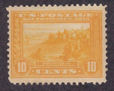 US 400 Mint OG 1913 10¢ Discovery of San Francisco Bay Perf 12 Issue Scv $110.00