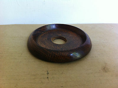 NICE OLD WOODEN BOTTLE HOLDER / COASTER 4.6 inches