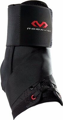 McDavid 195 Lightweight Ankle Brace w/ Straps Black NEW Injury Support Red Logo