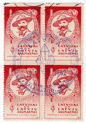 (I.B) Latvia Cinderella : General Goppers Fund (Kalmazoo cancel 1962)