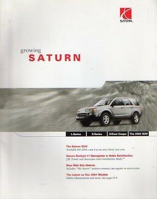 2001 Saturn new car introduction mailing brochure - full line  1712a