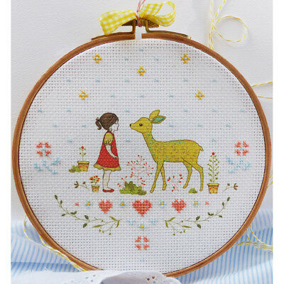 """Charles Craft Counted Cross Stitch 8""""X8""""-Tamar Nature Girl (14 Count)"""