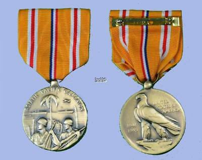 Wwii Us Navy Asiatic Pacific Theatre Campaign Medal Ribbon Original Box