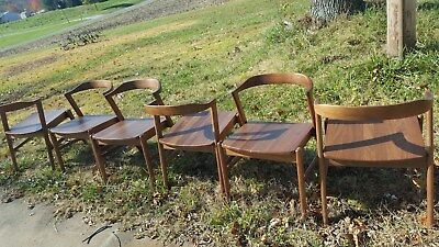 Set Of 6 Jansen Chairs Room & Board Handcrafted In Vermont Nice Condition