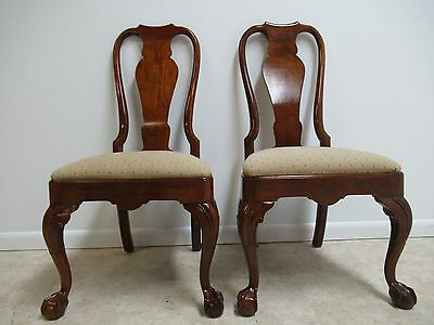 Henredon Ball and Claw Chippendale Dining Room Side Chairs C