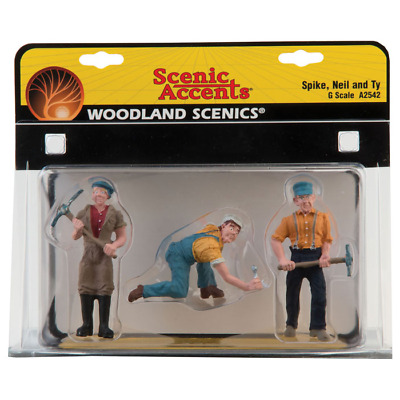 Woodland Scenics – Scenic Accents – G Scale – Spike, Neil and Ty Plastic Figures