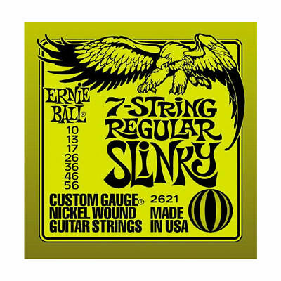 Ernie Ball 7-string Regular Slinky Nickel Wound Electric Guitar Strings 2621 NEW
