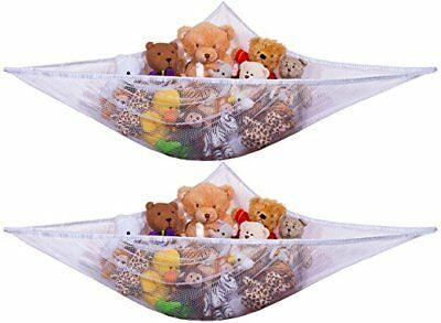 2Pc Large Toy Soft Teddy Hammock Mesh Baby Kids Bedroom Tidy Storage Nursery Net
