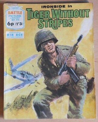 "BATTLE PICTURE LIBRARY # 513 ""Tiger without stripes"" 1971, incorporates Air Ace."