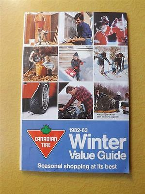 Canadian Tire Catalog Winter Value Guide 1982-83 Catalog Parts Tools Collector