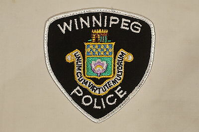 Canadian Manitoba Winnipeg Police White Patch 1