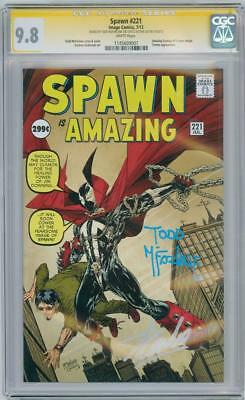 Spawn #221 Cgc 9.8 Signature Series Signed Stan Lee & Todd Mcfarlane Af #15