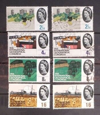 1964 20th INTERNATIONAL GEOGRAPHICAL CONGRESS. Two sets each of four stamps.