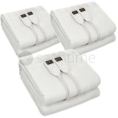 Livivo Super Deluxe Cosy Electric Blanket Under Heated Bed W Dual Led Controller
