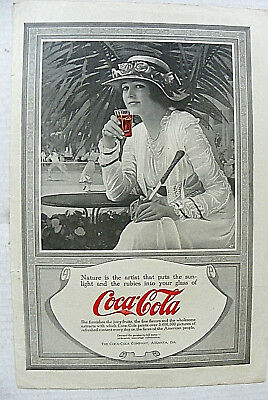 """1917, May People Home Jrl """"nature Is The Artist That Puts The Sun~ Coca-Cola"""" Ad"""