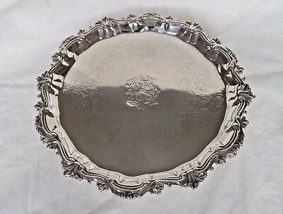 Superb George Ii London 1748 Sterling / Solid Silver Salver / Tray
