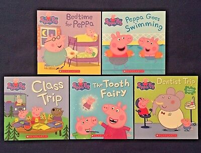 Lot of 5 Children's Picture Books: Peppa Pig Series - Paperbacks NEW GIFT