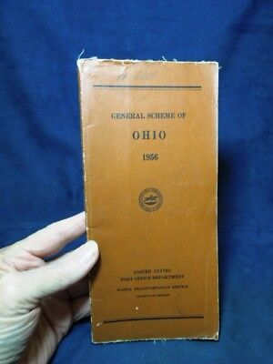 1956 General Scheme Of Ohio Us Post Office Book