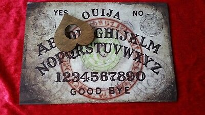 Wooden Ouija Board game & Planchette Instructions Spirit hunt seance Ghost magic