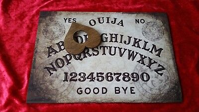 Wooden Ouija Board game & Planchette Instructions Spirit hunt pagan Ghost magic