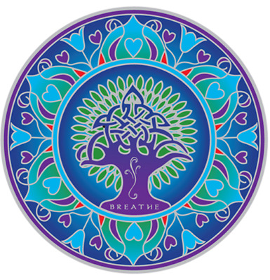 FENG SHUI Fenstersticker Earth Mandala