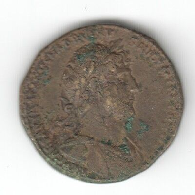 Hadrian Sestertius Roma Seated ? Ad 117 Nice Condition Auction Starts At £1
