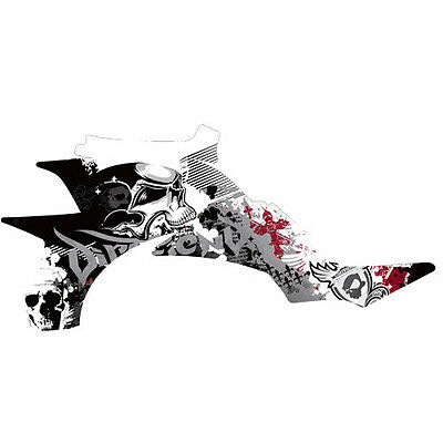 """YFZ450 Graphics DFR """"Fold"""" White Red Sides Only Yamaha YFZ450 ATV Decal Wrap"""