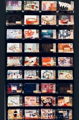 56 New Starbucks 2017 Christmas Holiday Gift Cards/tags  Complete Set