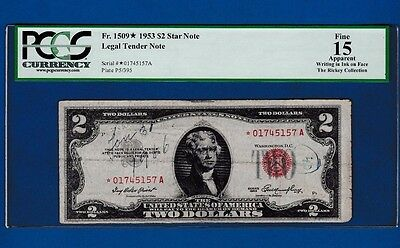 Fr.1509  $2 1953 STAR  LEGAL TENDER UNITED STATES NOTE * 01745157 A PCGS