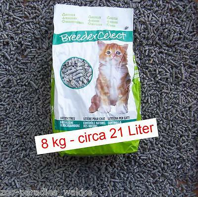 8 kg Breeder Celect Recycling Katzenstreu aus Recyclingpapier ca. 21 Liter