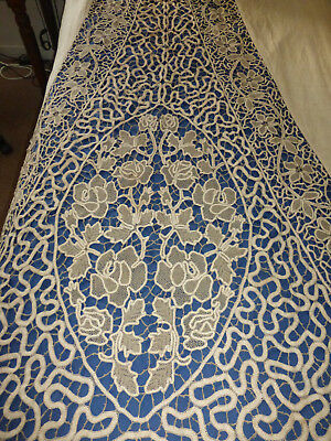 Antique lace, hanging for Tester bed,great decorators piece
