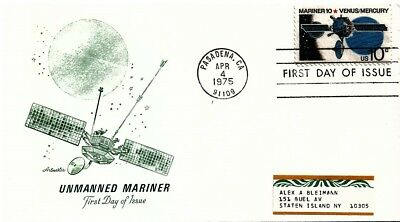 UNITED STATES - 1975 Unmanned Mariner FDI Souvenir Cover