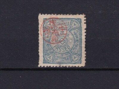 China Japan Occ. Taiwan Formosa 臺灣總督府 Tax Revenue Stamp FU with Red Cancel Rare