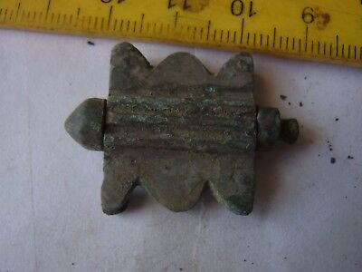 Ancient Bronze Casting Ornament Fibula In Shape of Fly