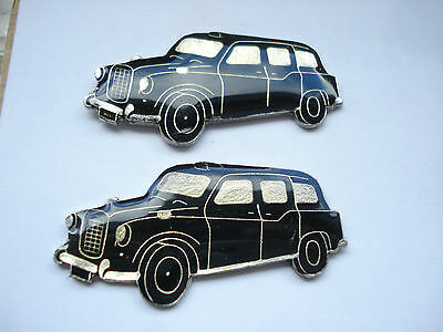 VINTAGE BLACK TAXI CAB ENGLAND LONDON GB CAR AUTOMOBILE CLUB NEW PIN BADGE 99p