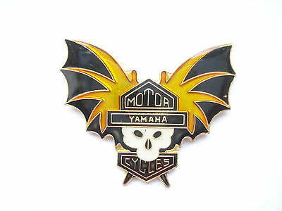 Sale Vintage Yamaha Bat Biker Motor Cycles Chopper Rocker Gothic Bike Pin Badge