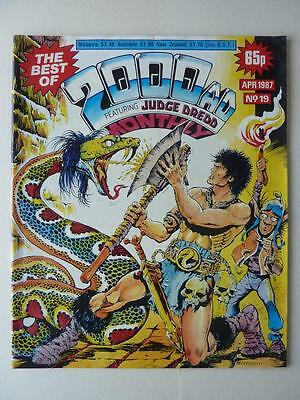 The Best Of 2000AD Featuring Judge Dredd Monthly No 19 1987 VGC