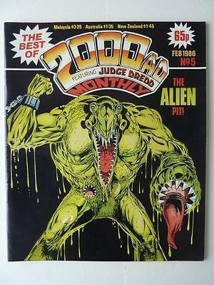 The Best Of 2000AD Featuring Judge Dredd Monthly No 5 1986 VGC