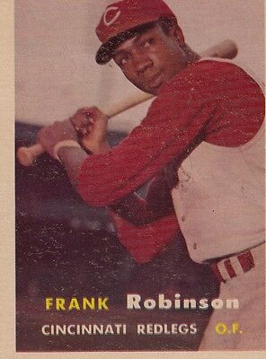 Topps 1957 #35 Frank Robinson-Rookie Card-Hall of Famer-Cincinnati Reds