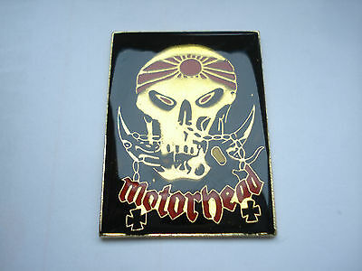 MOTORHEAD HEAVY METAL MUSIC ROCK BAND GB PIN BADGE LEMMY EDDIE ACE OF SPADES 99p