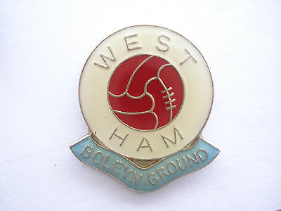 Vintage West Ham United Football Team Club Boleyn Ground Icf Firm Pin Badge Whfc