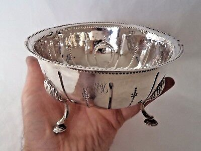 Rare Large 18Th Century Irish Dublin 1784 Solid / Sterling Silver Bowl
